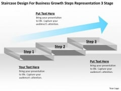 Growth Steps Representation 3 Stage Ppt Real Estate Agent Business Plan PowerPoint Templates