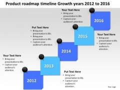 Growth Years 2012 To 2016 Development Success PowerPoint Templates Ppt Slides Graphics