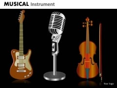 Guitar Violin Microphone PowerPoint Templates Editable Ppt Slides