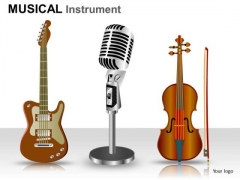 Guitar Violin PowerPoint Slides And Ppt Diagram Templates