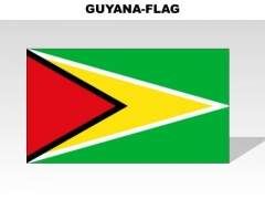 Guyana Country PowerPoint Flags