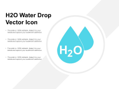 H2O Water Drop Vector Icon Ppt PowerPoint Presentation Infographics File Formats