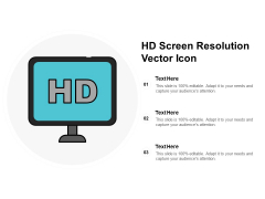 HD Screen Resolution Vector Icon Ppt PowerPoint Presentation Infographics Elements