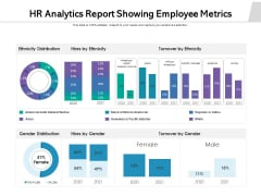 HR Analytics Report Showing Employee Metrics Ppt PowerPoint Presentation File Backgrounds PDF