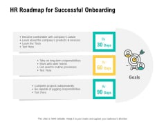 HR Digital Transformation HR Roadmap For Successful Onboarding Ppt Pictures Rules V