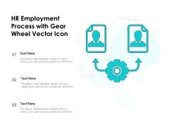 HR Employment Process With Gear Wheel Vector Icon Ppt PowerPoint Presentation Icon Portfolio PDF