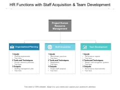 HR Functions With Staff Acquisition And Team Development Ppt Powerpoint Presentation Pictures Format Ideas