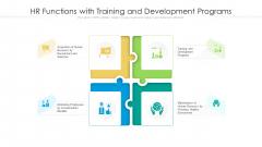 HR Functions With Training And Development Programs Ppt Portfolio Icon PDF