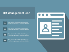 HR Management Icon Ppt PowerPoint Presentation Infographic Template Infographics
