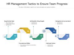 HR Management Tactics To Ensure Team Progress Ppt PowerPoint Presentation Icon Example PDF
