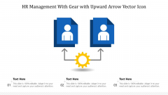HR Management With Gear With Upward Arrow Vector Icon Ppt PowerPoint Presentation File Good PDF