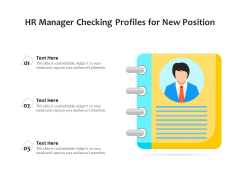 HR Manager Checking Profiles For New Position Ppt PowerPoint Presentation Gallery Mockup PDF