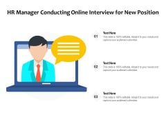 HR Manager Conducting Online Interview For New Position Ppt PowerPoint Presentation Gallery Themes PDF