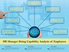 HR Manager Doing Capability Analysis Of Employees Ppt PowerPoint Presentation Gallery Graphics PDF