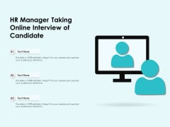 HR Manager Taking Online Interview Of Candidate Ppt PowerPoint Presentation Infographics Clipart PDF