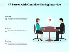 HR Person With Candidate During Interview Ppt PowerPoint Presentation Portfolio Design Ideas PDF
