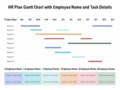 HR Plan Gantt Chart With Employee Name And Task Details Ppt PowerPoint Presentation Outline Graphics Pictures