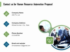 HR Process Automation Contact Us For Human Resource Automation Proposal Introduction PDF