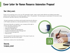 HR Process Automation Cover Letter For Human Resource Automation Proposal Clipart PDF