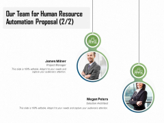 HR Process Automation Our Team For Human Resource Automation Proposal Pictures PDF