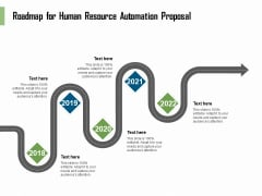 HR Process Automation Roadmap For Human Resource Automation Proposal Download PDF