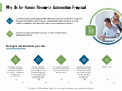 HR Process Automation Why Us For Human Resource Automation Proposal Demonstration PDF