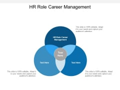 HR Role Career Management Ppt PowerPoint Presentation Ideas Example Cpb