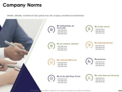 HR Strategy Employee Journey Company Norms Ppt Infographics Background Designs PDF