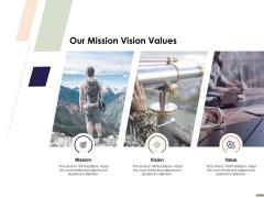 HR Strategy Employee Journey Our Mission Vision Values Ppt Portfolio Ideas PDF