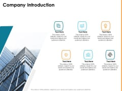 HR Strategy To Transform Employee Experience And Work Culture Company Introduction Portrait PDF