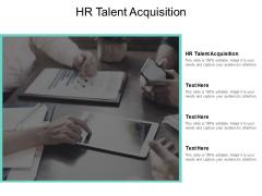 HR Talent Acquisition Ppt PowerPoint Presentation Portfolio Icon Cpb