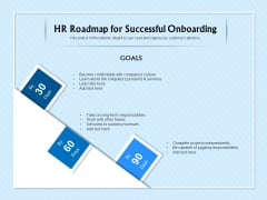HR Transformation Roadmap HR Roadmap For Successful Onboarding Ppt Outline Mockup PDF