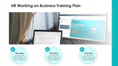 HR Working On Business Training Plan Ppt PowerPoint Presentation Sample PDF