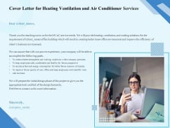 HVAC Cover Letter For Heating Ventilation And Air Conditioner Services Ppt Infographics PDF