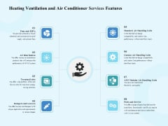 HVAC Heating Ventilation And Air Conditioner Services Features Ppt Outline Tips PDF