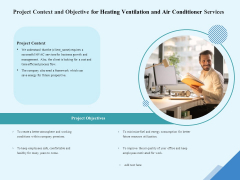 HVAC Project Context And Objective For Heating Ventilation And Air Conditioner Services Graphics PDF