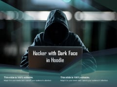 Hacker With Dark Face In Hoodie Ppt PowerPoint Presentation File Shapes
