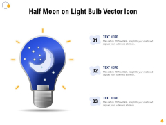 Half Moon On Light Bulb Vector Icon Ppt PowerPoint Presentation Layouts Example Introduction