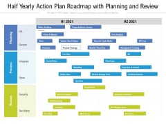 Half Yearly Action Plan Roadmap With Planning And Review Brochure