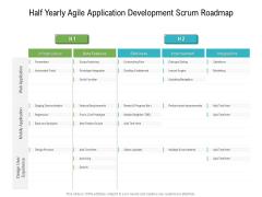 Half Yearly Agile Application Development Scrum Roadmap Brochure
