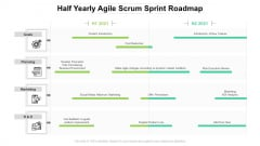 Half Yearly Agile Scrum Sprint Roadmap Icons