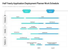 Half Yearly Application Deployment Planner Work Schedule Information