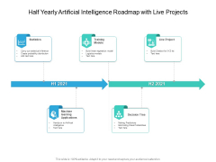 Half Yearly Artificial Intelligence Roadmap With Live Projects Portrait