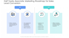 Half Yearly Associate Marketing Roadmap For Sales Lead Conversion Download PDF