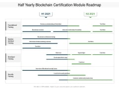 Half Yearly Blockchain Certification Module Roadmap Mockup