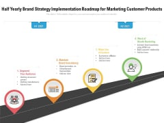 Half Yearly Brand Strategy Implementation Roadmap For Marketing Customer Products Portrait