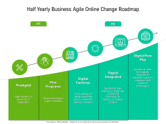 Half Yearly Business Agile Online Change Roadmap Elements