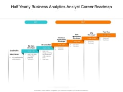 Half Yearly Business Analytics Analyst Career Roadmap Infographics