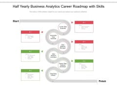 Half Yearly Business Analytics Career Roadmap With Skills Summary