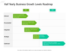 Half Yearly Business Growth Levels Roadmap Clipart